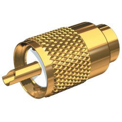 Shakespeare - PL-259-58-G - Gold Plated PL-259 Connector w/UG175