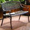 Fire Sense - 61491 - Antique Bronze Cast Aluminum Patio Bench