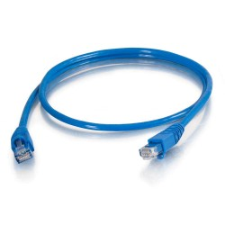 C2G (Cables To Go) - 10279 - 1ft Cat5e Snagless Unshielded (UTP) Network Patch Cable (TAA Compliant) - Blue - Category 5e for Network Device - RJ-45 Male - RJ-45 Male - TAA Compliant - 1ft - Blue
