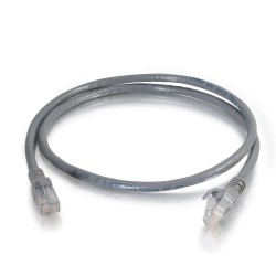 C2G (Cables To Go) - 10301 - C2G 1 ft Cat6 Snagless Unshielded (UTP) Network Patch Cable (TAA) - Gray - Category 6 for Network Device - RJ-45 Male - RJ-45 Male -TAA Compliant - 1ft - Gray