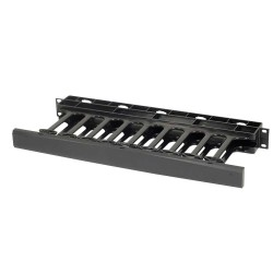 C2G (Cables To Go) / Legrand - 14596 - C2G 1U Single-Sided Horizontal Cable Management Panel - Cable Management Panel - Black - 1U Rack Height - 19 Panel Width - Plastic
