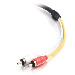 C2G (Cables To Go) - 40132 - C2G 35ft CMG-Rated RCA Stereo Audio Cable With Low Profile Connectors - 35 ft - Stereo Audio - Male Stereo Audio