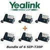 Yealink - SIP-T20P X 6 - SIP-T20P, Bundle of 6 Entry Level VoIP Phone, w/ POE, w/o Power Supply