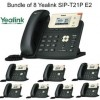 Yealink - SIP-T21P E2 X 8 - SIP-T21P E2 Bundle of 8 Entry-level IP phone 2 Lines HD voice PoE LCD