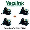 Yealink - SIP-T32G X 4 - SIP-T32G Bundle of 4 Gigabit Color IP Phone No Power Supply