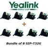 Yealink - SIP-T32G X 8 - SIP-T32G Bundle of 8 Gigabit Color VoIP Phone No Power Supply