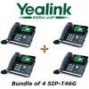 Yealink - SIP-T46G X 4 - SIP-T46G VoIP Phone 6 SIP Accts PoE Dual-port Gigabit Does Not Includes Power BUNDLE of 4