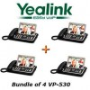 "Yealink - VP530 X 4 - VP530 Bundle of 4 Business Video Phone 7"" Touchscreen 4 VoIP Account"