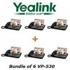 "Yealink - VP530 X 6 - VP530 Bundle of 6 Business Video Phone 7"" Touchscreen 4 VoIP Account"