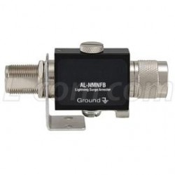 L-Com Global Connectivity - AL-NMNFB-9 - N-Male to N-Female Bulkhead 0-3 GHz 90 V Lightning Protector