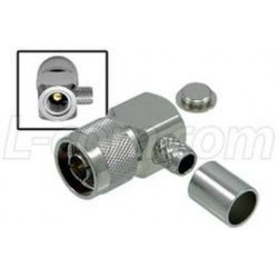 L-Com Global Connectivity - ANM-1416 - Type N Male Crimp Right Angle for RG8, 400-Series Cable