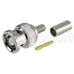 L-Com Global Connectivity - ARBP-1700 - RP BNC Crimp Plug for RG58, 195-Series Cable