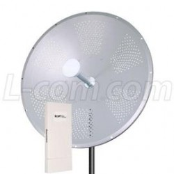 L-Com Global Connectivity - ARK4958DP-34D-2 - 5.8 GHz 34 dBi Dish Antenna / Outdoor CPE/AP Kit