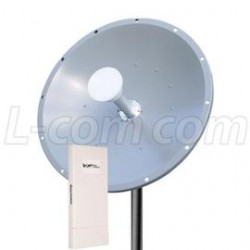 L-Com Global Connectivity - ARK5158DP-29D-2 - 5.8 GHz 28.5 dBi Dish Antenna / Outdoor CPE/AP Kit