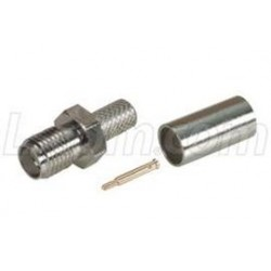 L-Com Global Connectivity - ARSJ-1700 - RP-SMA Jack Crimp for RG58, 195-Series Cable