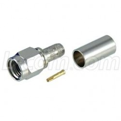 L-Com Global Connectivity - ARSP-1700 - RP-SMA Plug Crimp for 195-Series Cable