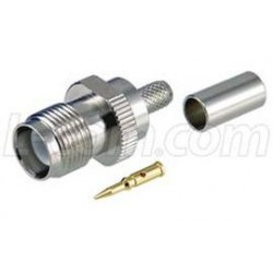 L-Com Global Connectivity - ARTJ-1708 - RP-TNC Crimp Jack for RG58, 195-Series Cable