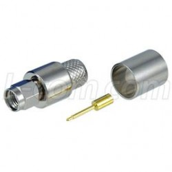 L-Com Global Connectivity - ASM-1406 - SMA Male Crimp for RG8, 400-Series Cable