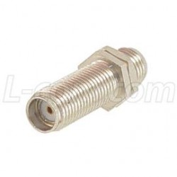 L-Com Global Connectivity - AXA-SFSFB - Coaxial Adapter, SMA Female / Female Bulkhead