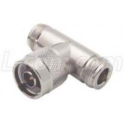 L-Com Global Connectivity - BN126 - Coaxial T Adapter, N Female / Female / Male