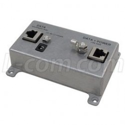 L-Com Global Connectivity - BT-CAT5E-P1-HP - Single-Port CAT5e Passive Midspan/Injector with Hi-Pwr Surge Protection