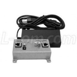 L-Com Global Connectivity - BT-CAT5E-P1-HP-4870 - BT-CAT5E-P1-HP Midspan/Injector Kit with 48VDC @ 70 W Power Supply