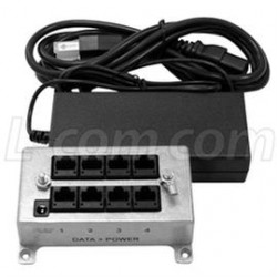 L-Com Global Connectivity - BT-CAT5-P4-4870 - BT-CAT5-P4 Midspan/Injector Kit with 48VDC @ 70 Watt Power Supply