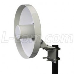 L-Com Global Connectivity - HG2414D - 2.4 GHz 14 dBi Backfire Dish Antenna - N-Female Connector