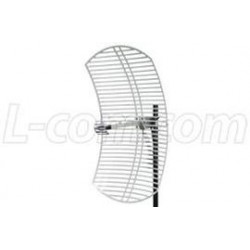 L-Com Global Connectivity - HG2424EG-NM - 2.4 GHz 24 dBi Die Cast Mini-Reflector Grid Antenna - N-Male Connector