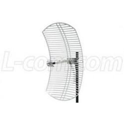L-Com Global Connectivity - HG2424EG-NM - 2.4 GHz 24 dBi Die Cast Mini-Reflector Grid Antenna - N-Male Connector