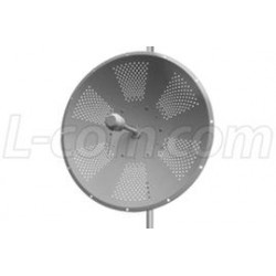 L-Com Global Connectivity - HG2425DPD - 2.4 GHz 25 dBi Dual Polarity/X-Polarity MIMO Dish Antenna