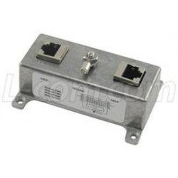 L-Com Global Connectivity - HGLN-CAT5J - Indoor Med Power 10/100 Base-T Shielded CAT5 Lightning Surge Protector