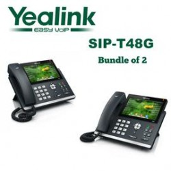 Yealink - SIP-T48G-BD2 - SIP-T48G 16 Line Gigabit VoIP Phone, Color T.S. LCD, No power Supply included, Bundle of 2