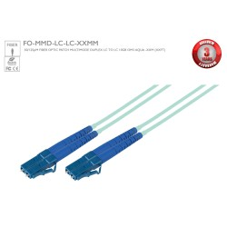 Avenview - FO-MMD-LC-LC-15MM - 50/125 Fiber Optic Patch Cable Multimode Duplex LC to LC - 10Gb Aqua - 15M (49Ft)