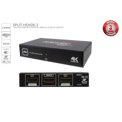 Avenview - SPLIT-HD42K-2 - Avenview 1x2 HDMI 4K2K Splitter with 1080p 3D ULTRA HD Support