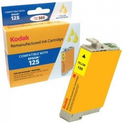 eReplacements - T125420-KD - KODAK Remanufactured Ink Cartridge Compatible With Epson 125 / T125 (T125420) High-Yield Yellow - Inkjet - High Yield - 385 Page
