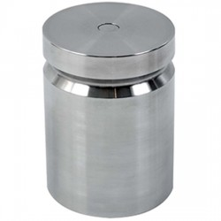 Troemner - 1201 - Troemner 1201 10 lb Class F Stainless Steel Test Weight with No Certificate, Cylindrical with Groove