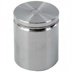 Troemner - 1207 - Troemner 1207 3 lb Class F Stainless Steel Test Weight with No Certificate, Cylindrical with Groove