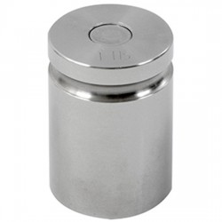 Troemner - 1211 - Troemner 1211 1 lb Class F Stainless Steel Test Weight with No Certificate, Cylindrical with Groove