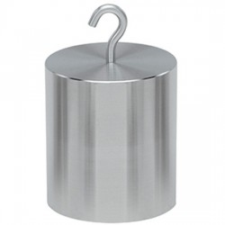 Troemner - 12312-ST - Troemner 12312-ST 1 kg Class F Stainless Steel Hook Top Weight with Trace Cert