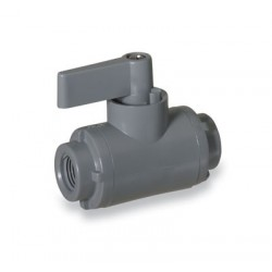 Cole-Parmer - EW-01377-01 - Ball Valve, 2-way, 1/8 NPT(F), PVC with EPDM seals