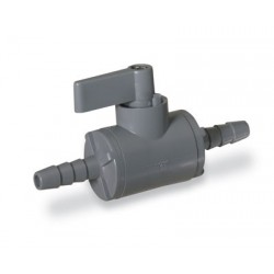 Cole-Parmer - EW-01377-50 - Ball Valve, 2-way, 1/2 barb, PVC with EPDM seals