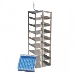 Worthington Industries - R05K-9C50 - Worthington R05K-9C50 Vertical Rack, 8 shelf, Stainless Steel for 100-cell box