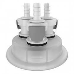 Cole-Parmer - EW-06058-54 - Versatile Cap Adapter Insert, 83B, 3 x 1/4 ID Quick Connect Ports