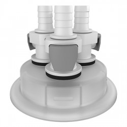 Cole-Parmer - EW-06058-55 - Versatile Cap Adapter Insert, 83B, 3 x 3/8 ID Quick Connect Ports