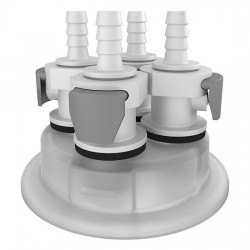 Cole-Parmer - EW-06058-56 - Versatile Cap Adapter Insert, 83B, 4 x 1/4 ID Quick Connect Ports