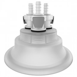 Cole-Parmer - EW-06058-60 - Versatile Cap Adapter Insert, 120 mm, 3 x 1/4 ID Quick Connect Ports