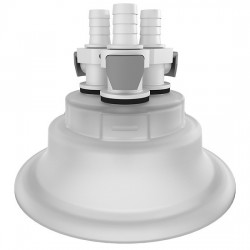 Cole-Parmer - EW-06058-61 - Versatile Cap Adapter Insert, 120 mm, 3 x 3/8 ID Quick Connect Ports