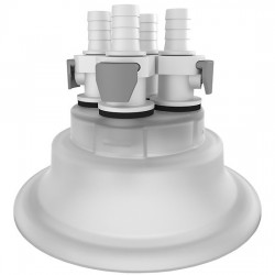 Cole-Parmer - EW-06058-63 - Versatile Cap Adapter Insert, 120 mm, 4 x 3/8 ID Quick Connect Ports