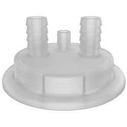 Cole-Parmer - EW-06058-66 - Versatile Cap Adapter Insert, 83B, Vent and 2 x 1/2 ID Hosebarb Ports